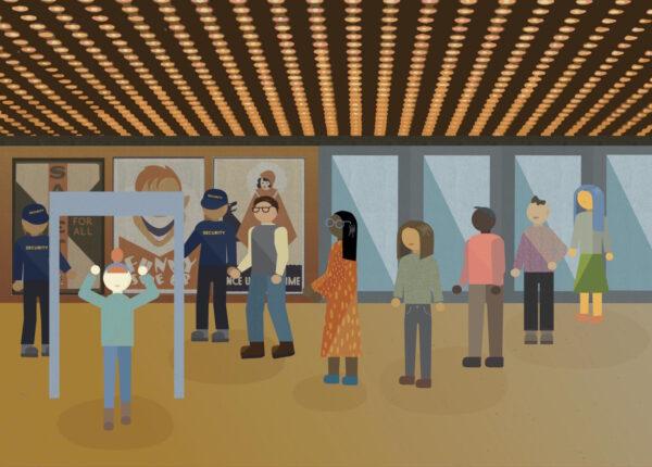 Postindustrial, Seeking escapism, met with metal detectors. By Lissa Brennan Illustration by Whitney Olson