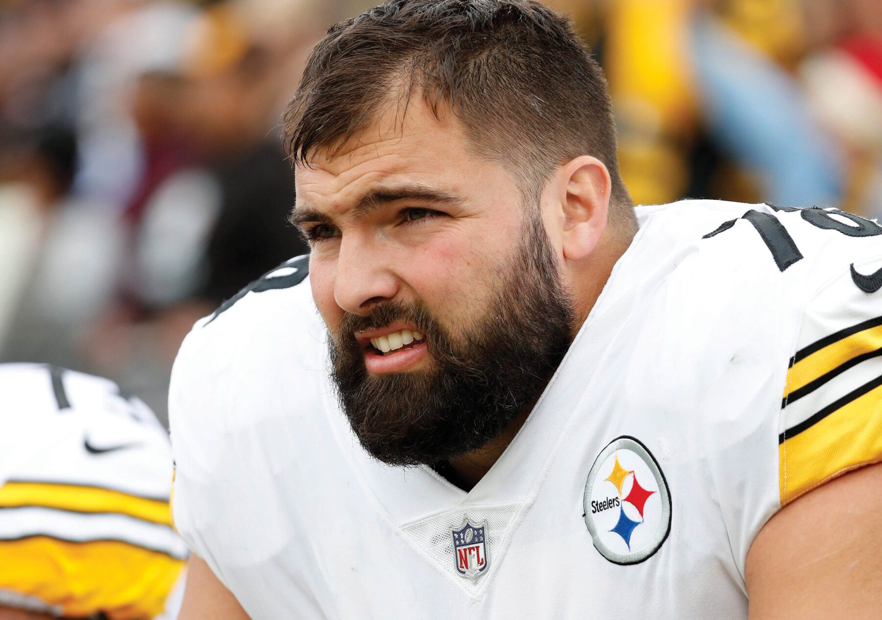 Postindustrial, Alejandro Villanueva would like to discuss geopolitics. by Carmen Gentile Photo Greg Trott via Associated Press