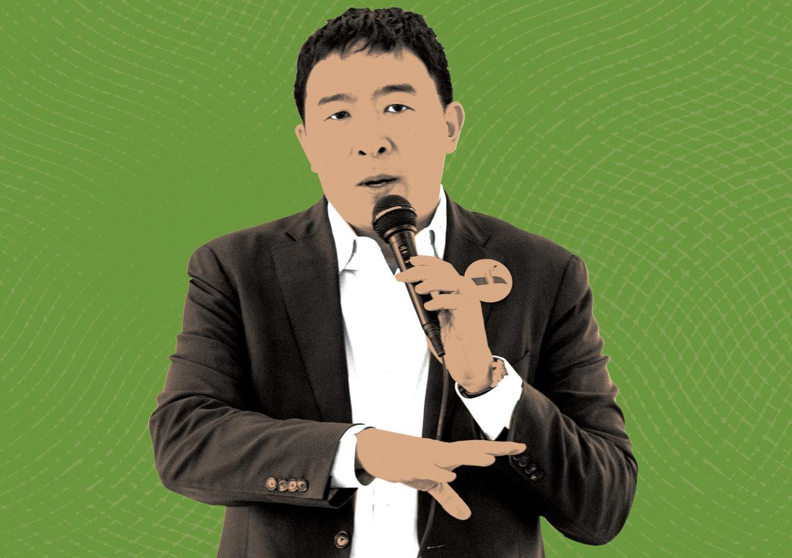 Postindustrial, Andrew Yang's autonomous revolt, By Sarah Earle, Illustration by Olson McIntyre
