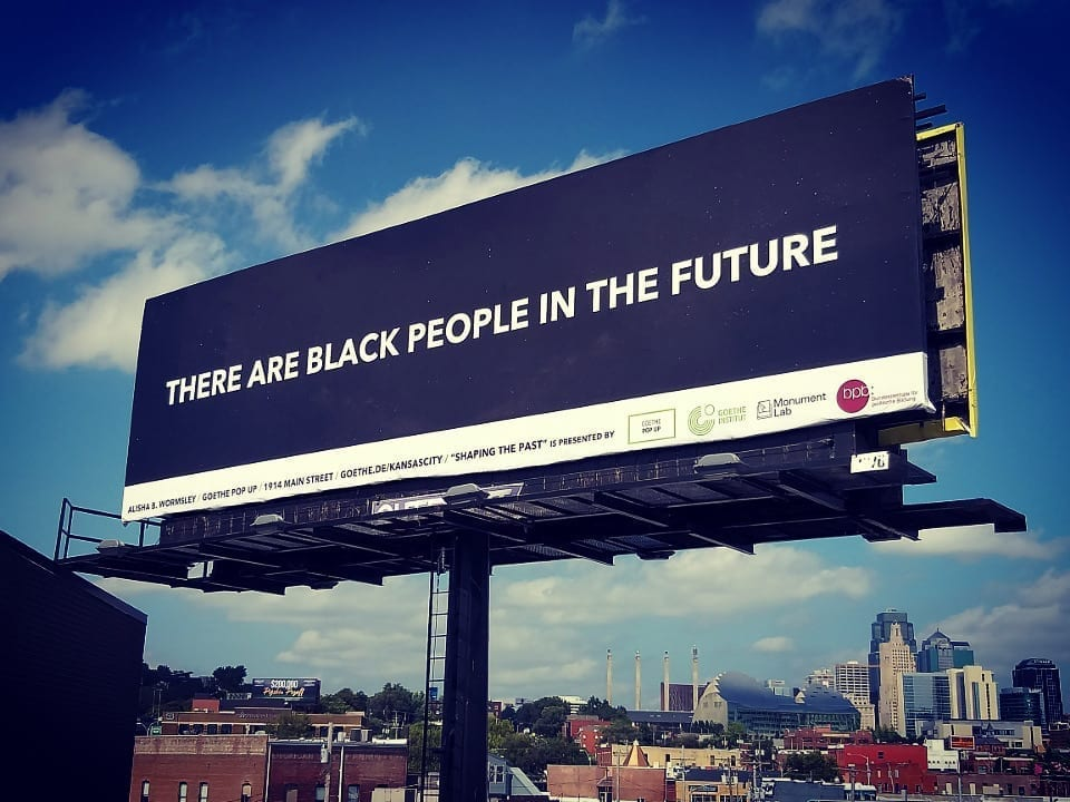 There are Black People in the Future Sign